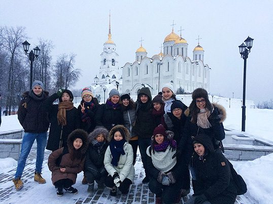 Cours d'hiver russe