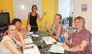 clases de idiomas en grupos pequeños